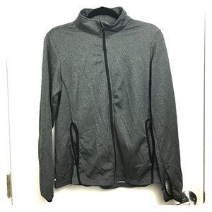 DANSKIN NOW Grey water-wicking jacket! ⛈